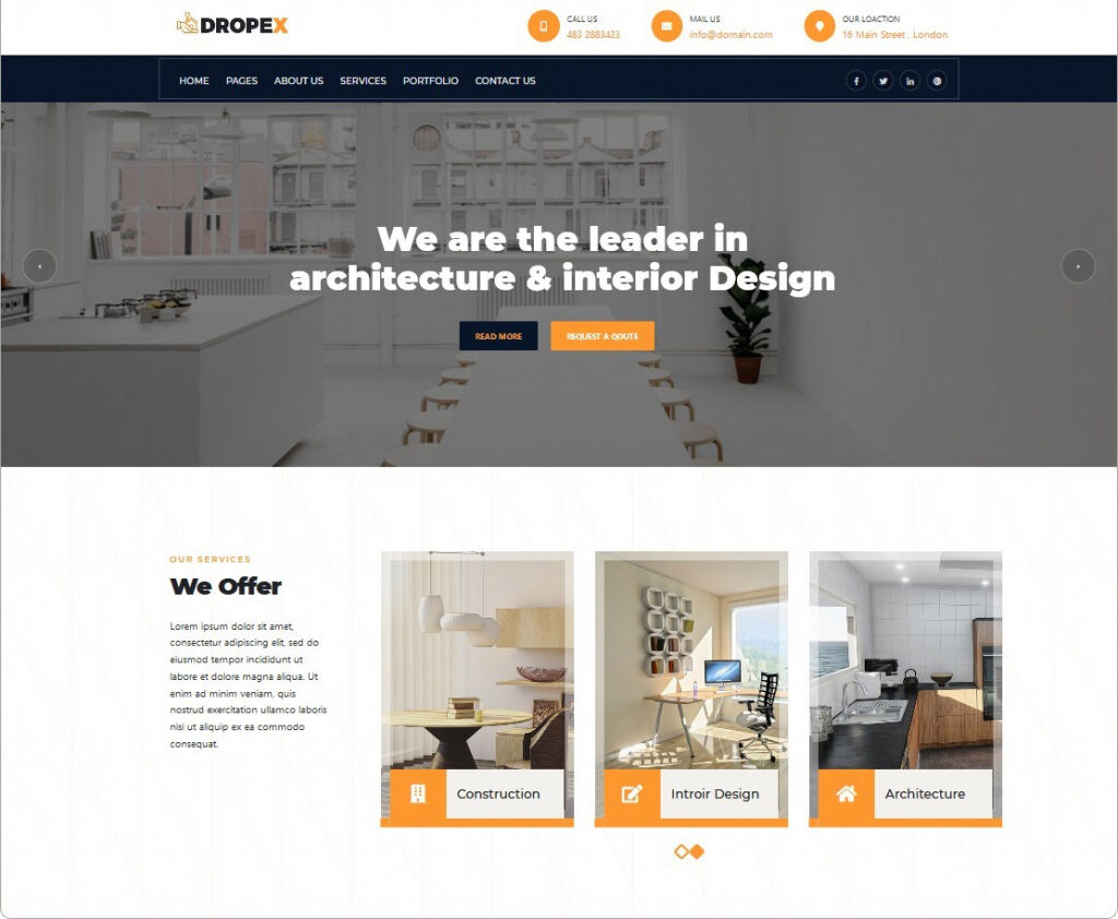 Dropex Construction Company And Architect Theme