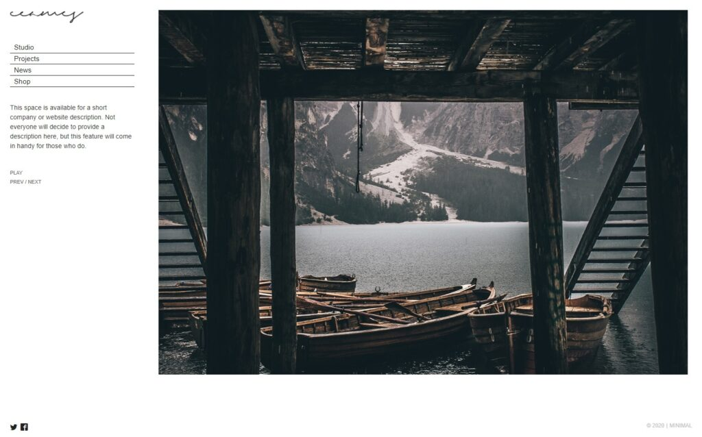 Eames Flat Minimalist Portfolio and Blog Theme