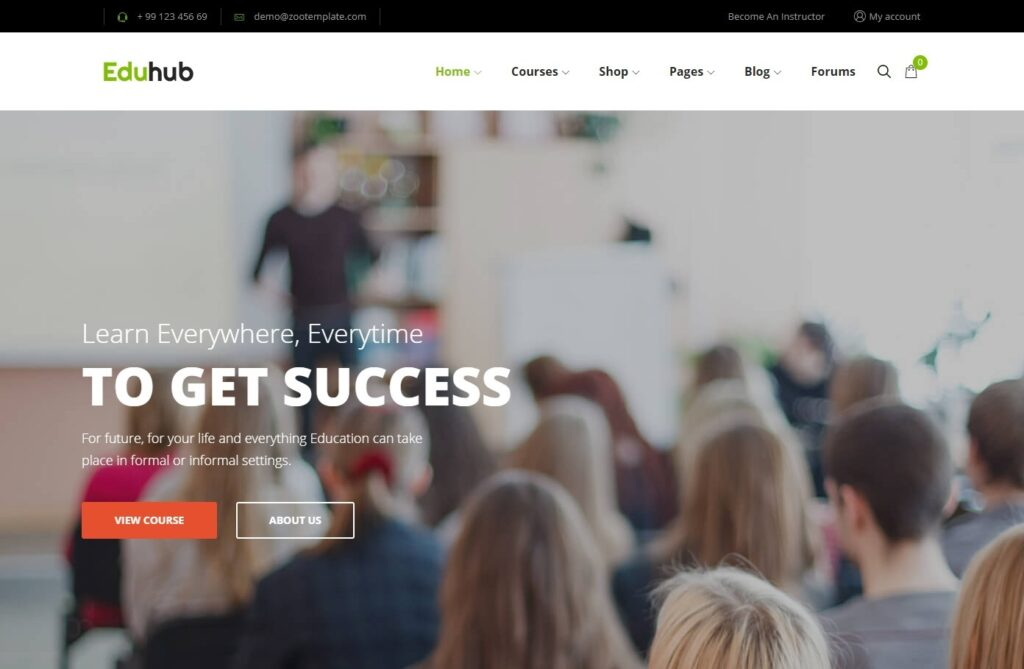 Eduhub WordPress Theme for Online Education Systems