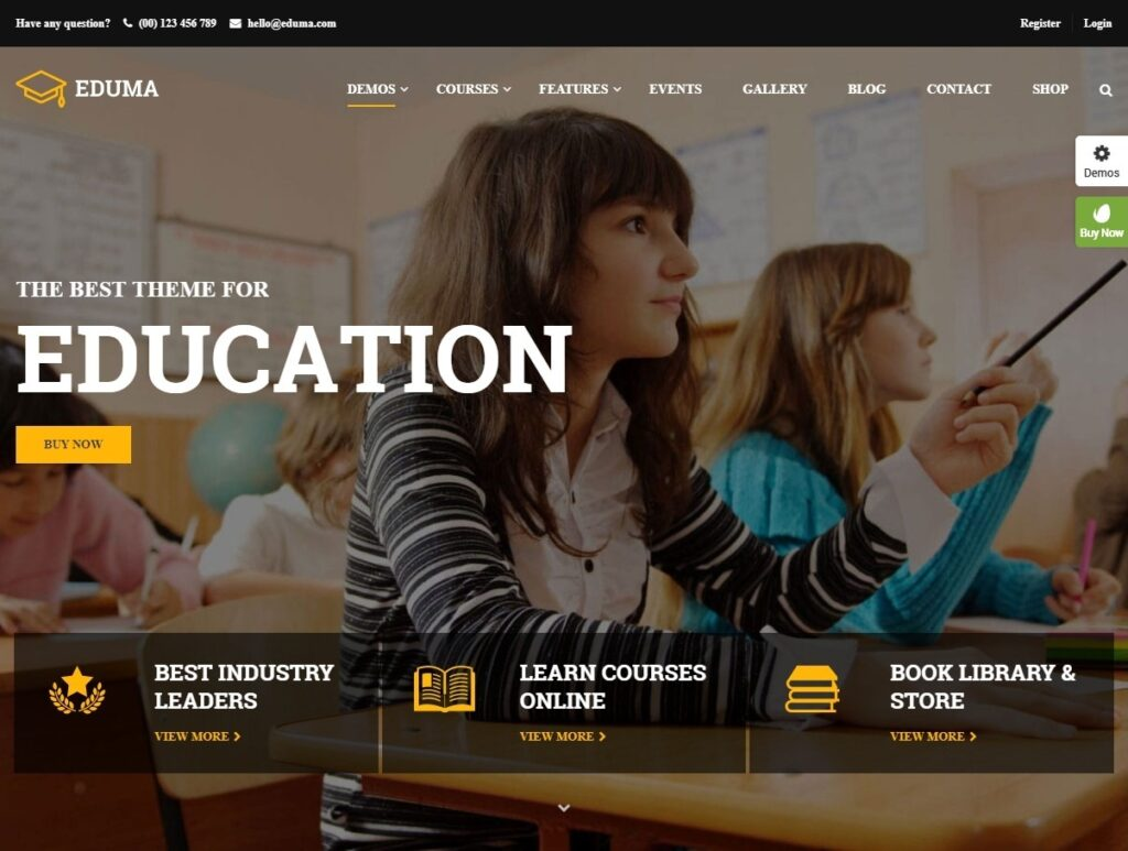 Eduma Premium Education WordPress Theme for LMS