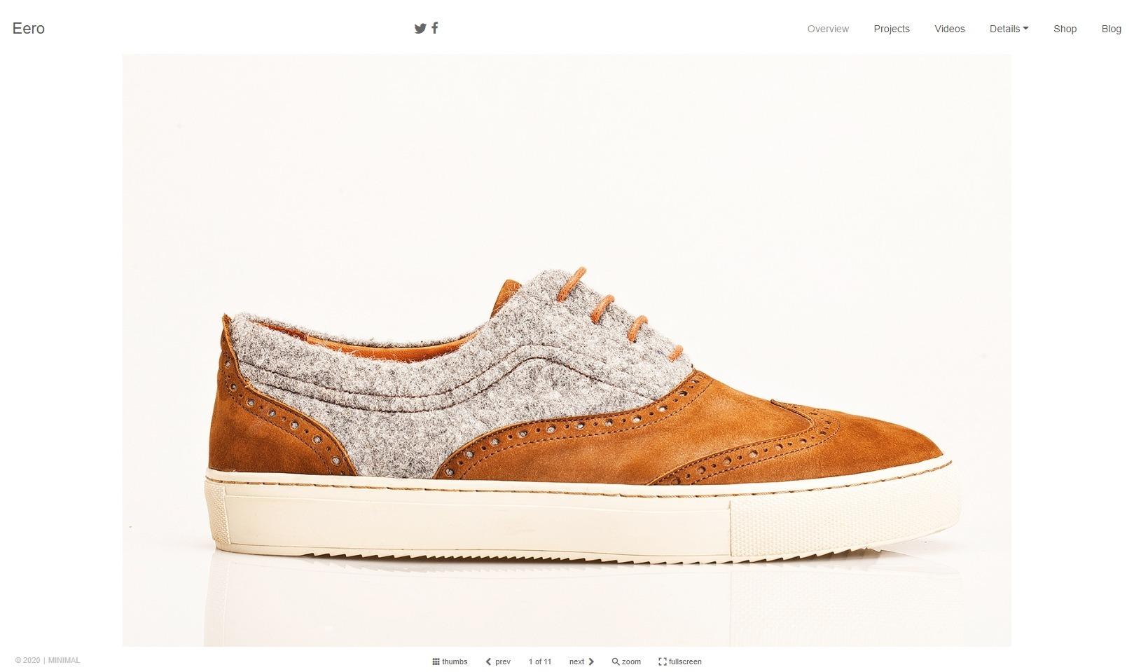 Eero Minimalist Blog Portfolio and eCommerce Theme