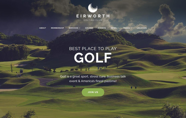 Eirworth Flexible WordPress Golf Course Theme