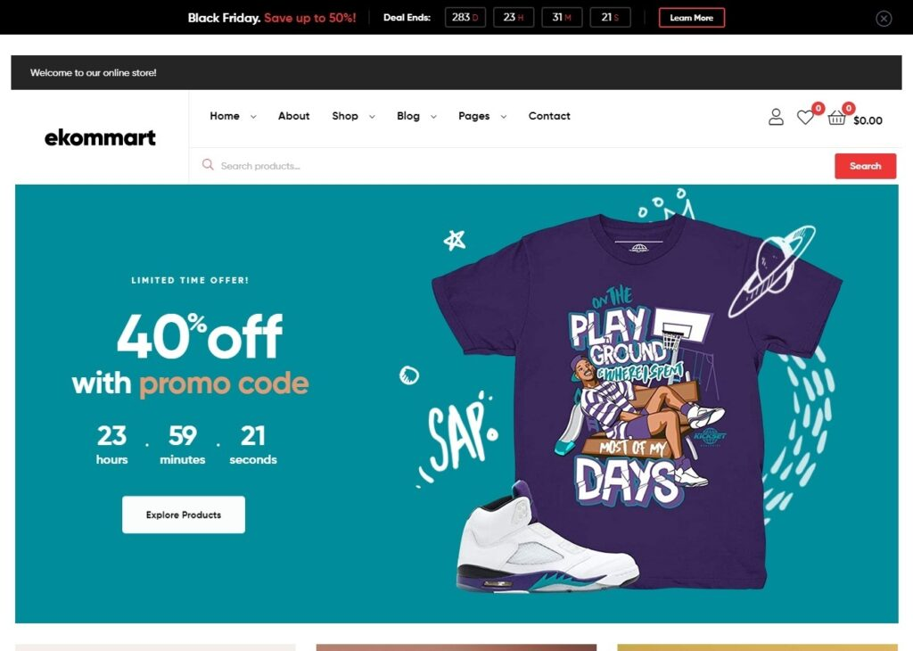 Ekommart WordPress Theme for All Kinds of Products