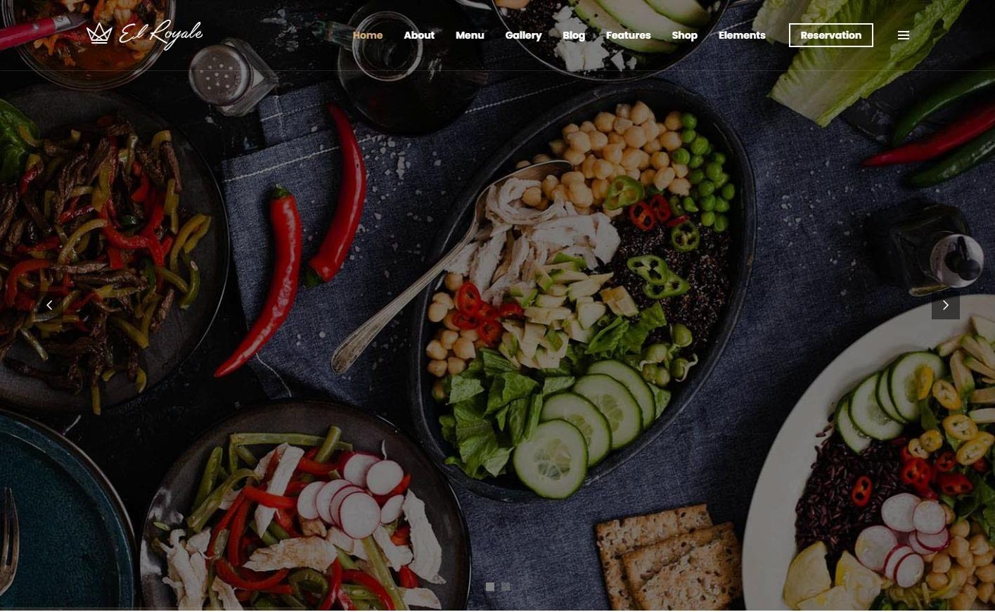 El Royale WordPress Theme for Fancy Restaurants