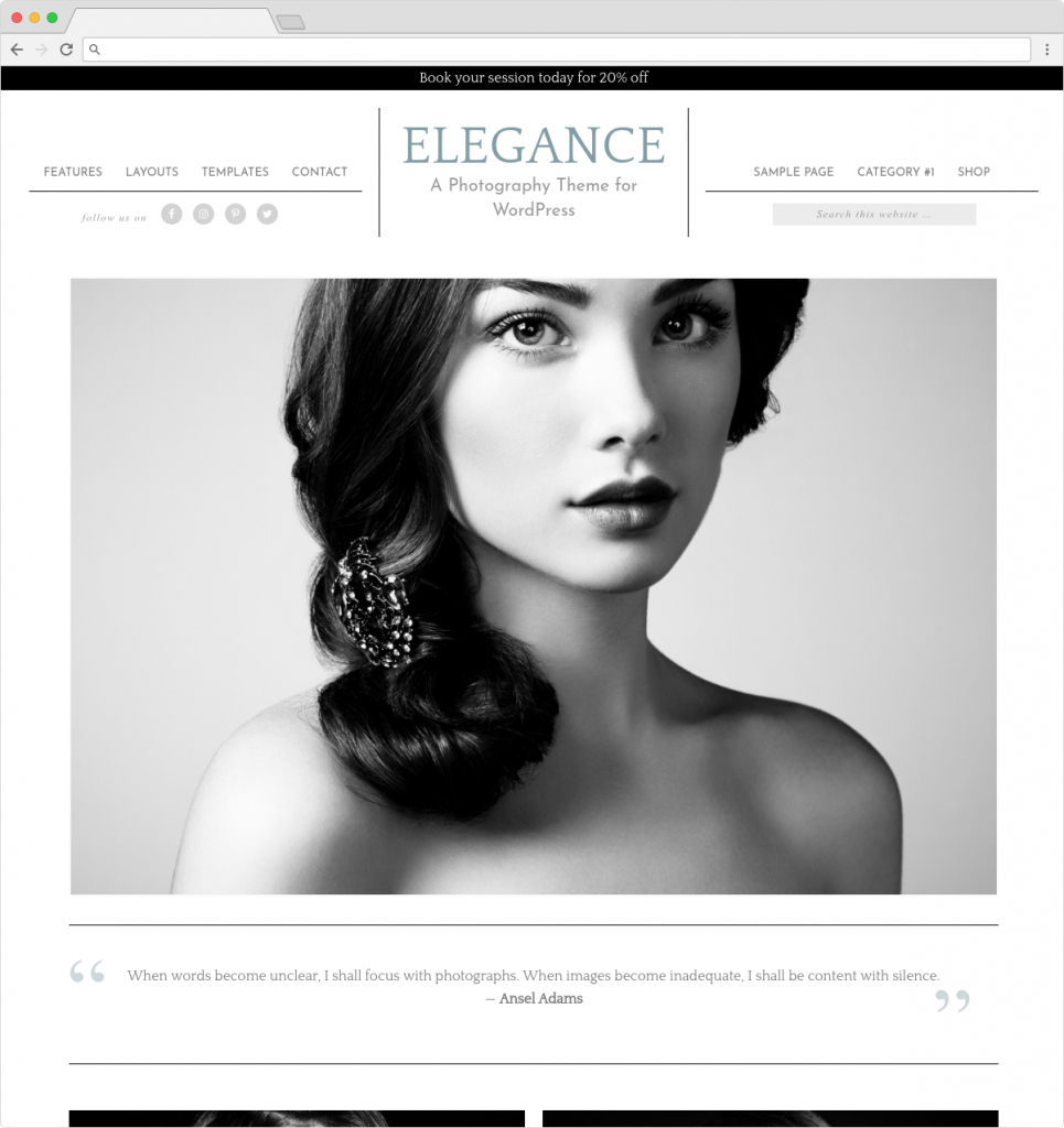 Elegance Pro Minimalist WordPress Portfolio Theme