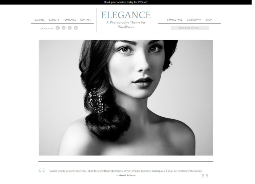 Elegance Pro WordPress Personal Blog and Portfolio Theme