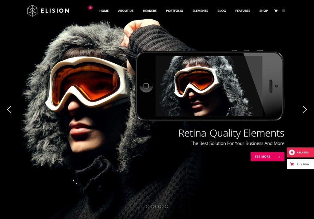 Elison Full Screen WordPress Theme