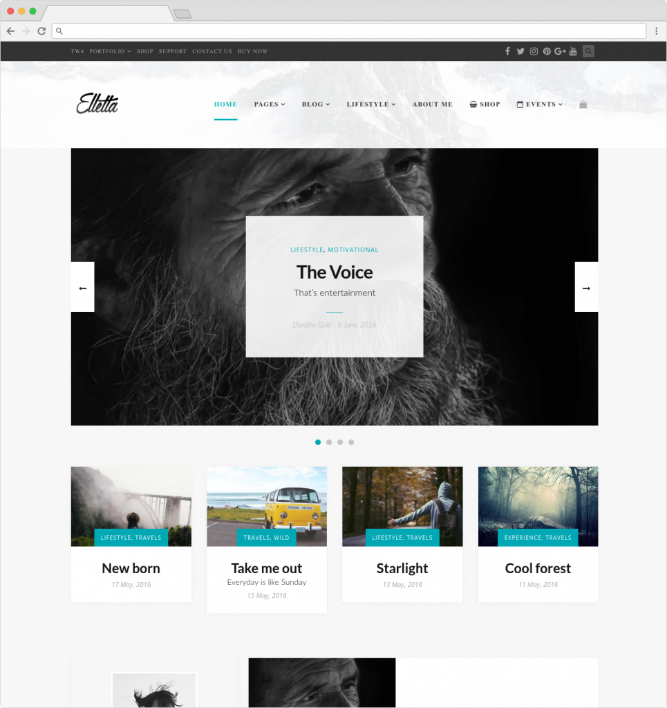 Elletta WordPress Lifestyle Blog Theme