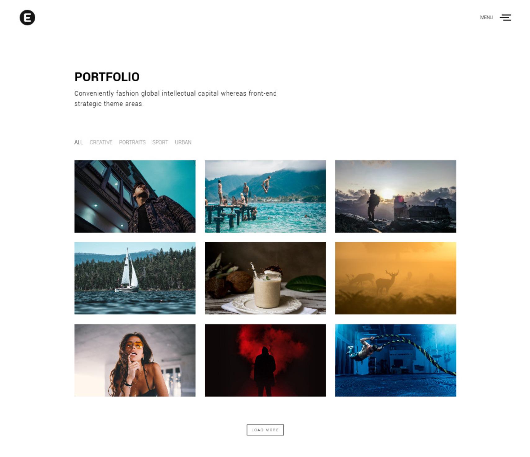 Emily Nolan Grid Portfolio Theme