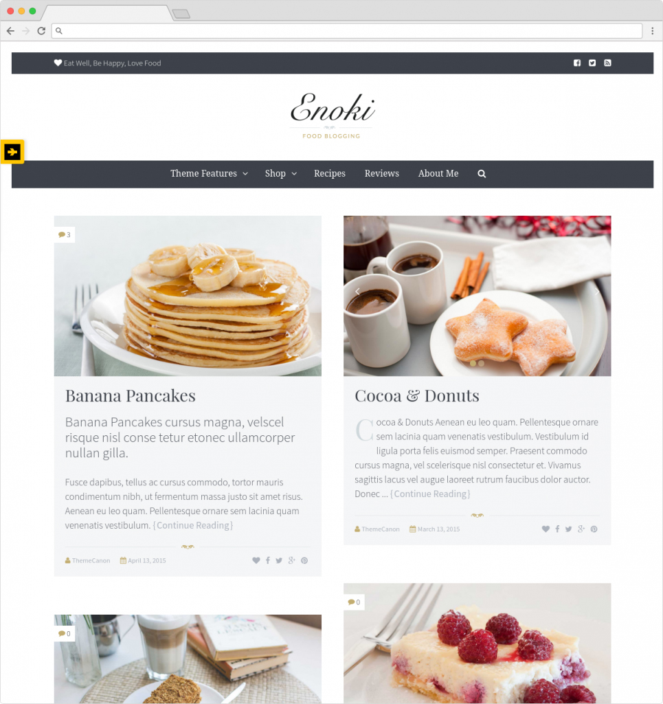 Enoki WordPress Recipe Blog And Foodie Theme