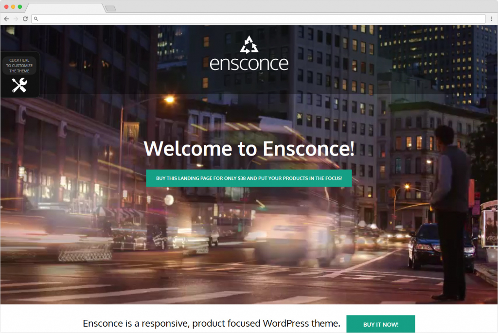 Ensconce WordPress Business Landing Page Themes