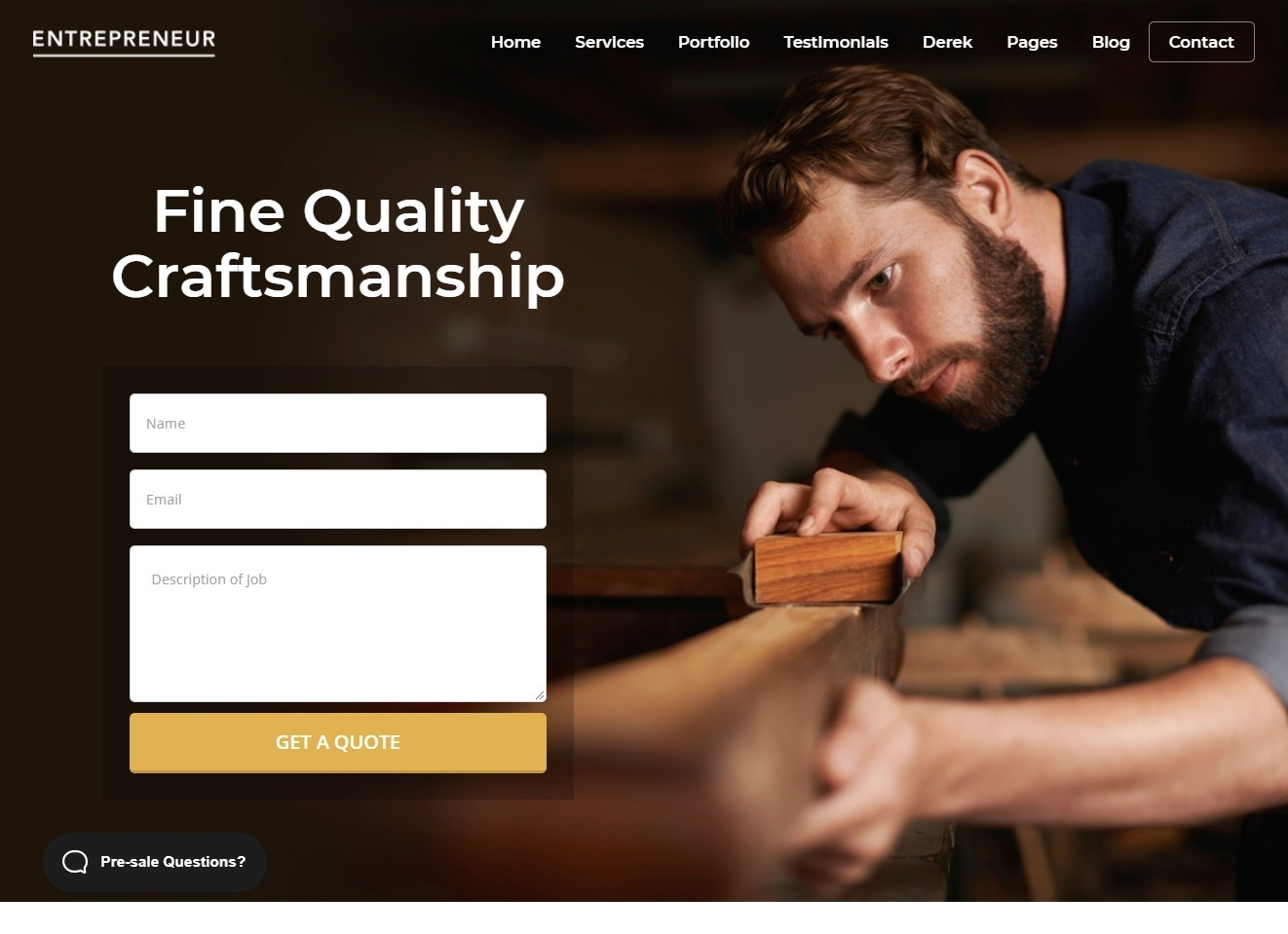 Entrepreneur Multi Purpose Small Business WordPress Theme