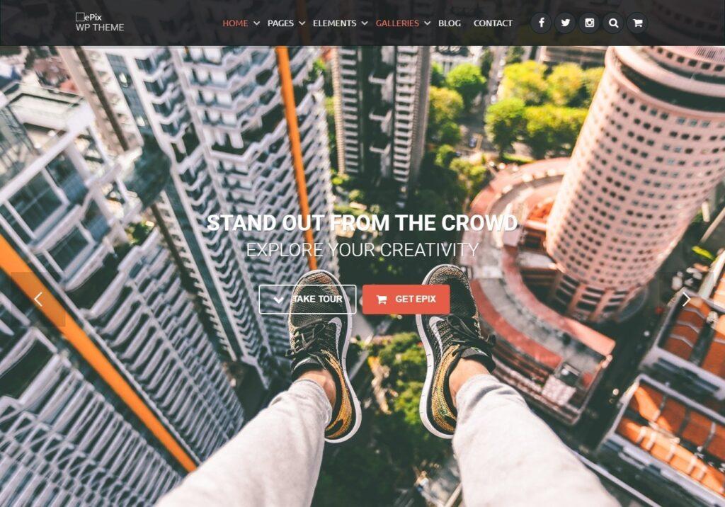 Epix Full Screen Splash Page WordPress Theme