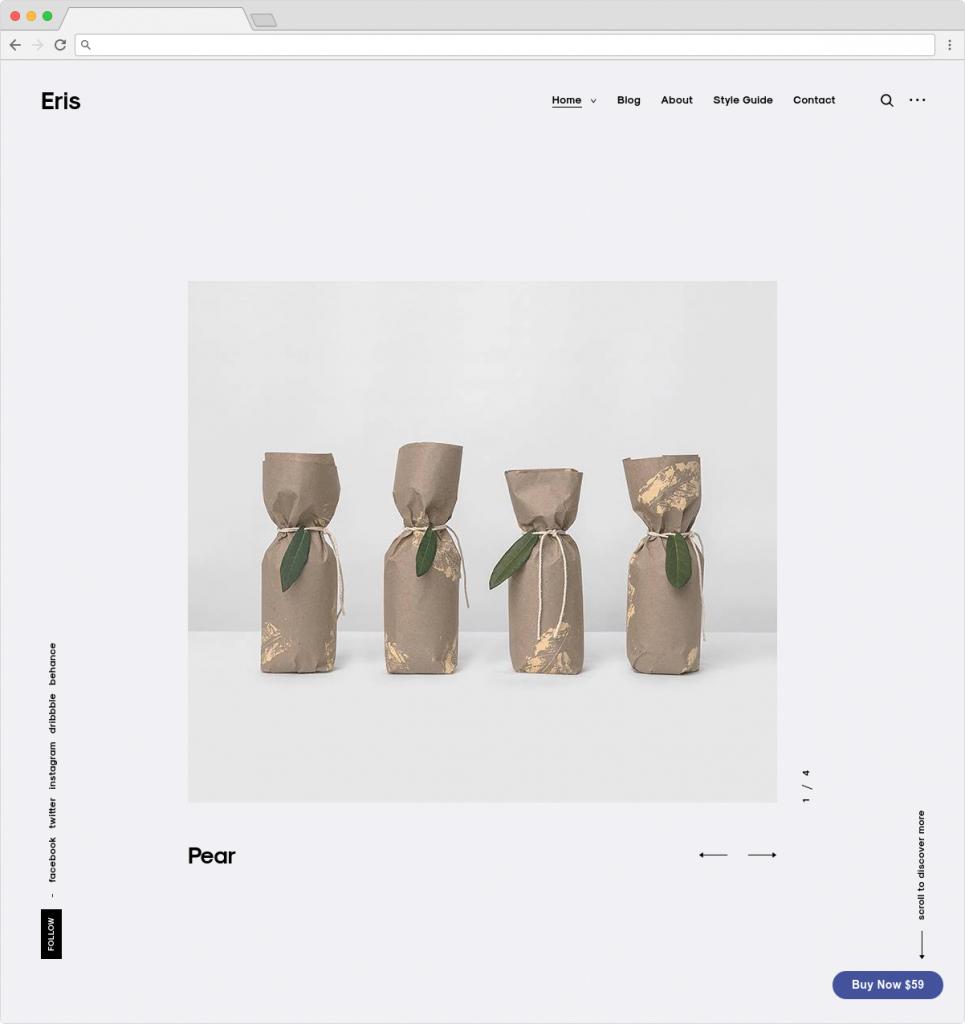 Eris Clean Minimalist Typography Theme For WordPress