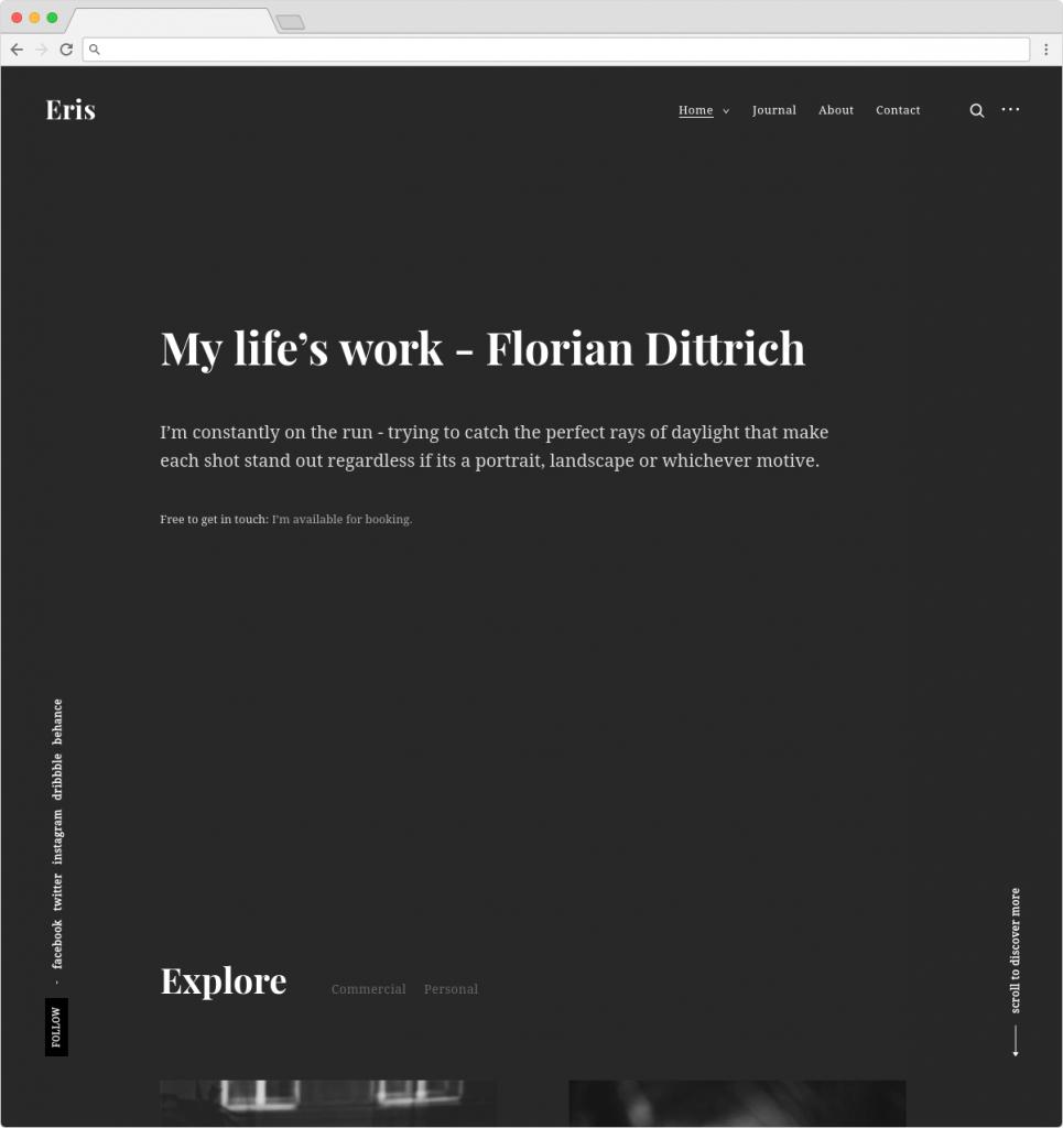 Eris Clean WordPress Architecture Theme