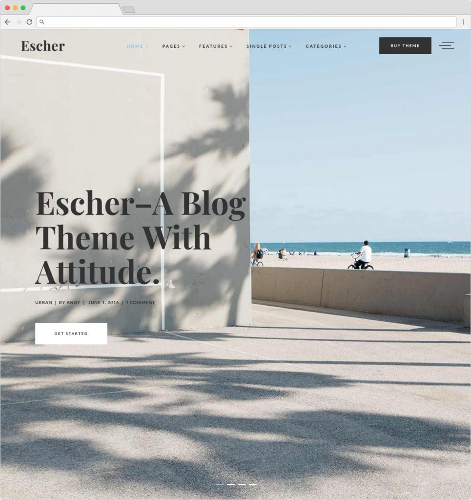 Escher Metro Style WordPress Blog Theme
