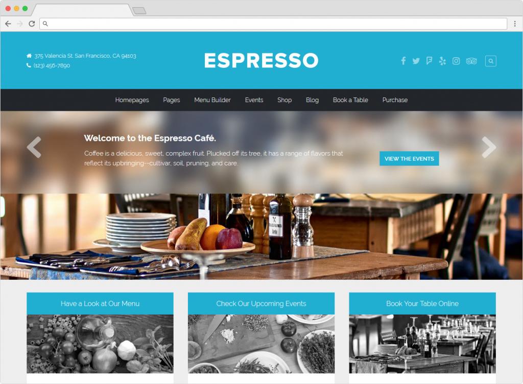 Espresso WordPress Coffee Shop Theme