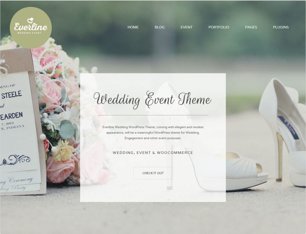 Everline Wedding Theme With Relationship Timeline