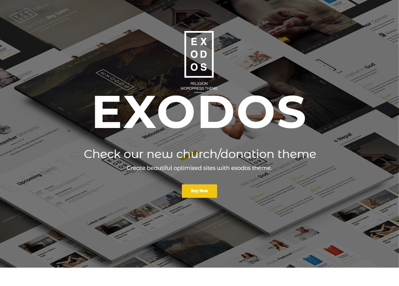 Exodus Church and Donations WordPress Theme for Non Profits