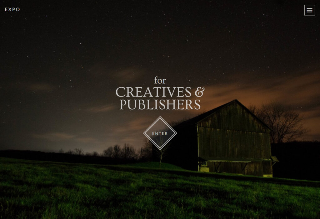 Expo Full Screen Theme for Creative Publishers and Agencies