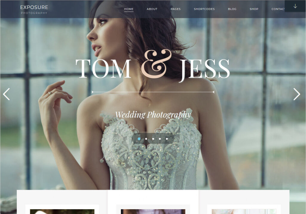 Exposure Photographers Image Gallery WordPress Theme