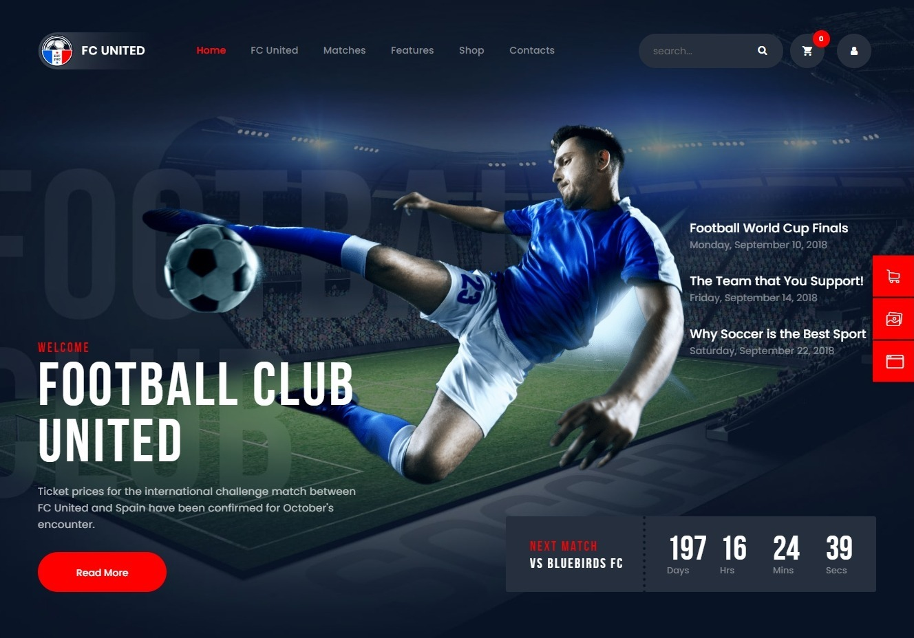 FC United Powerful Football WordPress Theme
