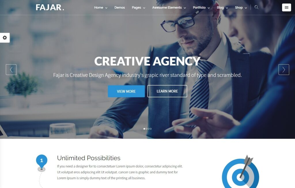 Fajar Flat WordPress Business and Agency Theme