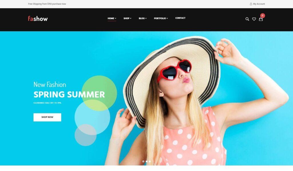 Fashow Minimal and Modern WooCommerce Fashion Theme