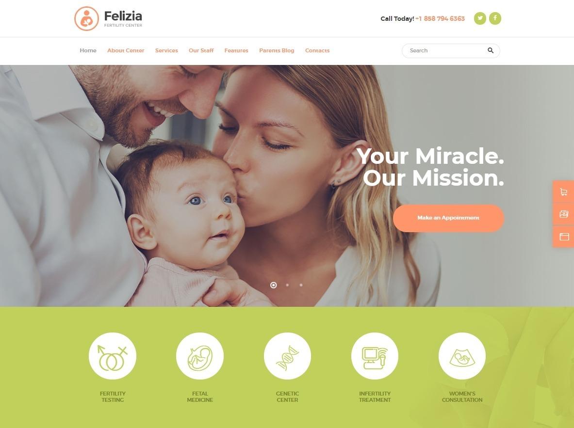 Felizia WordPress Theme for Mommy Blogs