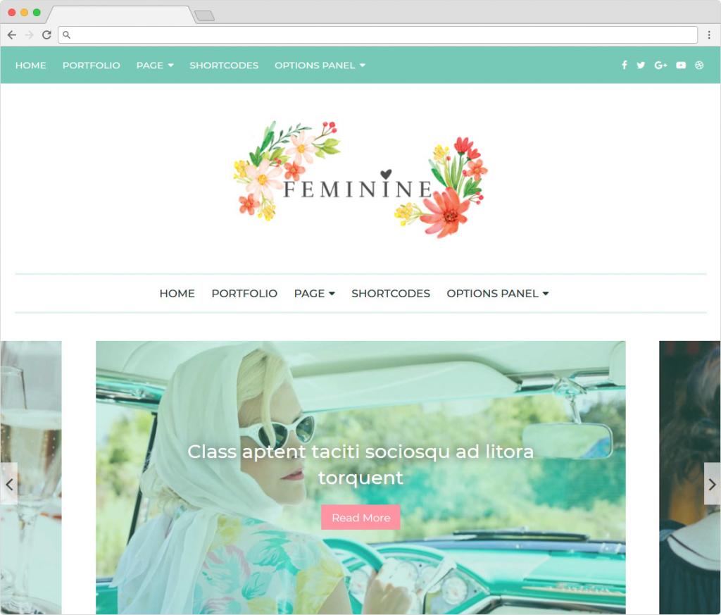 Feminine Womens Health And Beauty WordPress Themes