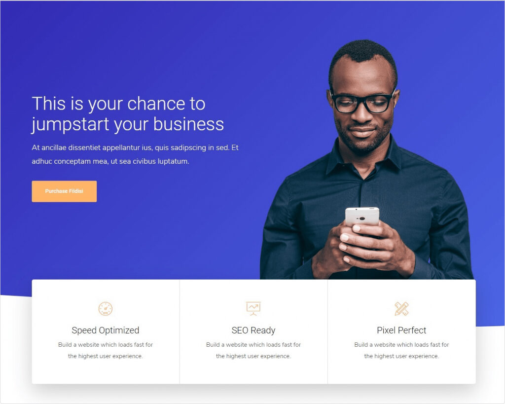 Fildisi One Page WordPress Business Theme