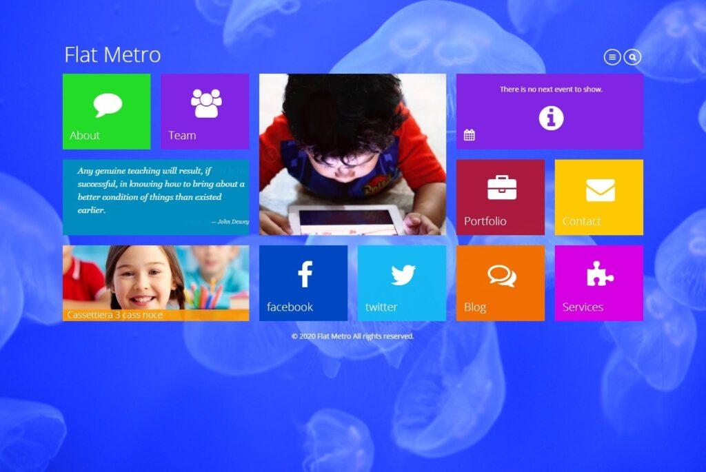 Flat Metro Classic Metro Style WordPress Theme