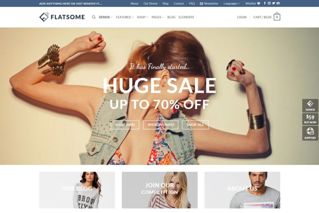 Flatsome Best Selling Classic WooCommerce Theme
