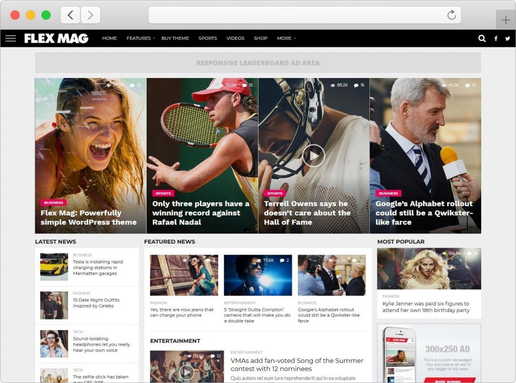 Flex Mag WordPress Newspaper And Magazine Theme