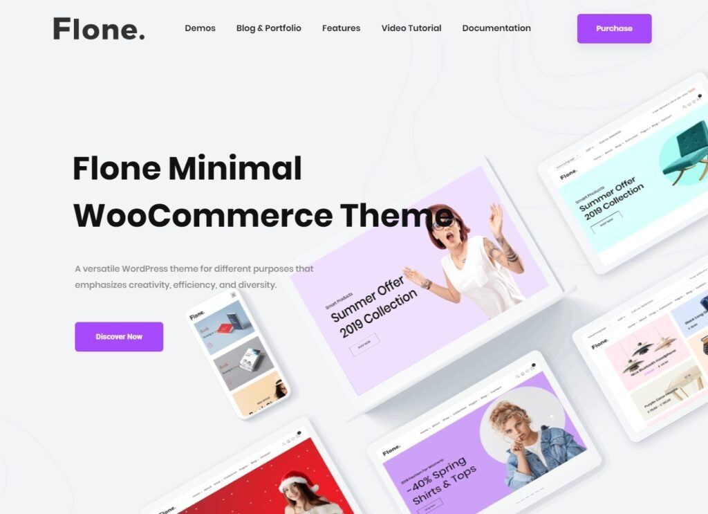 Flone Minimalist WordPress WooCommerce Theme