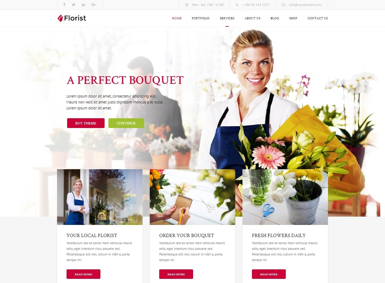 Florist Flower Shop WordPress Theme