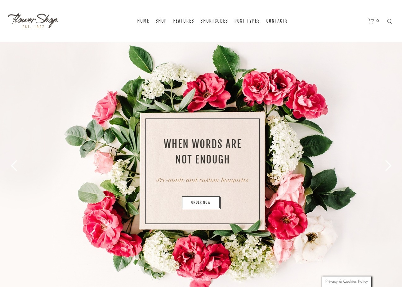 Flower Shop WordPress eCommerce Flower Shop