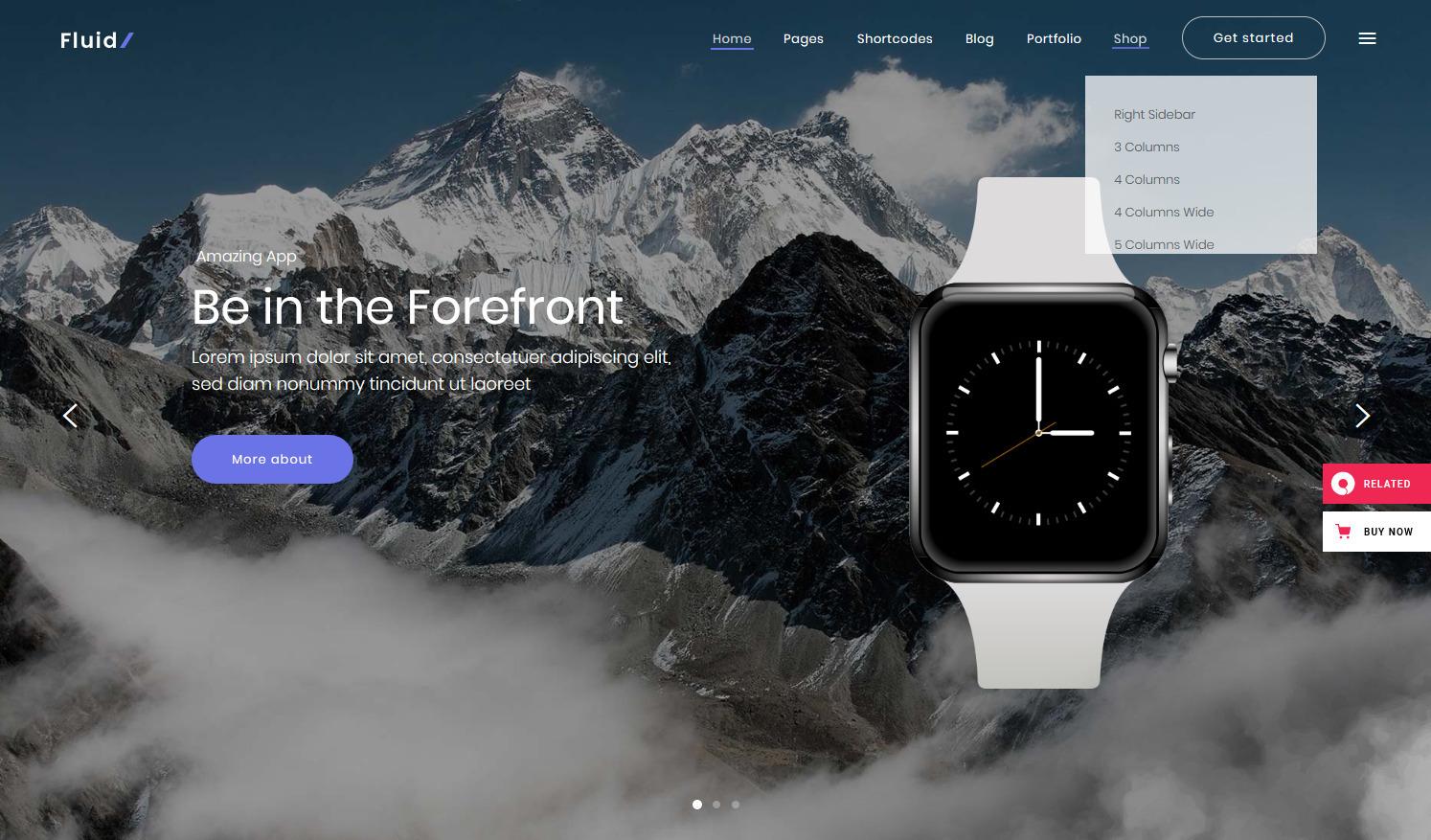 Fluid WordPress Landing Page Themes