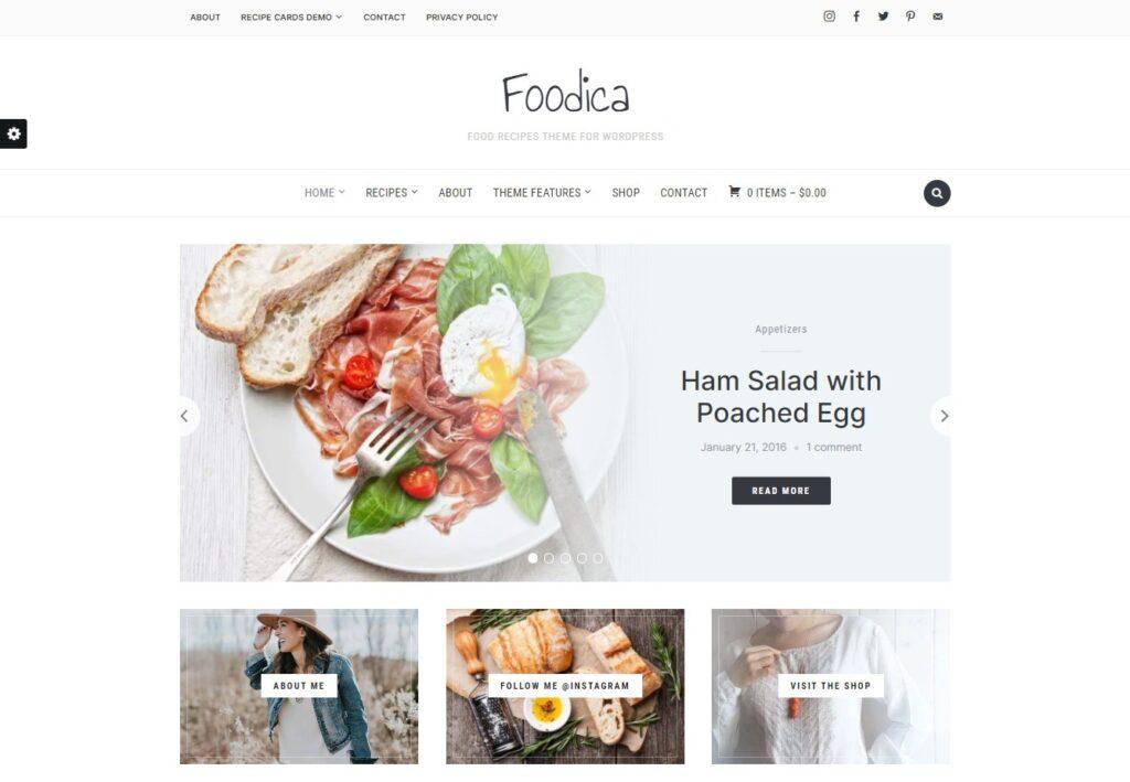 Foodica Food Recipes Theme for WordPress