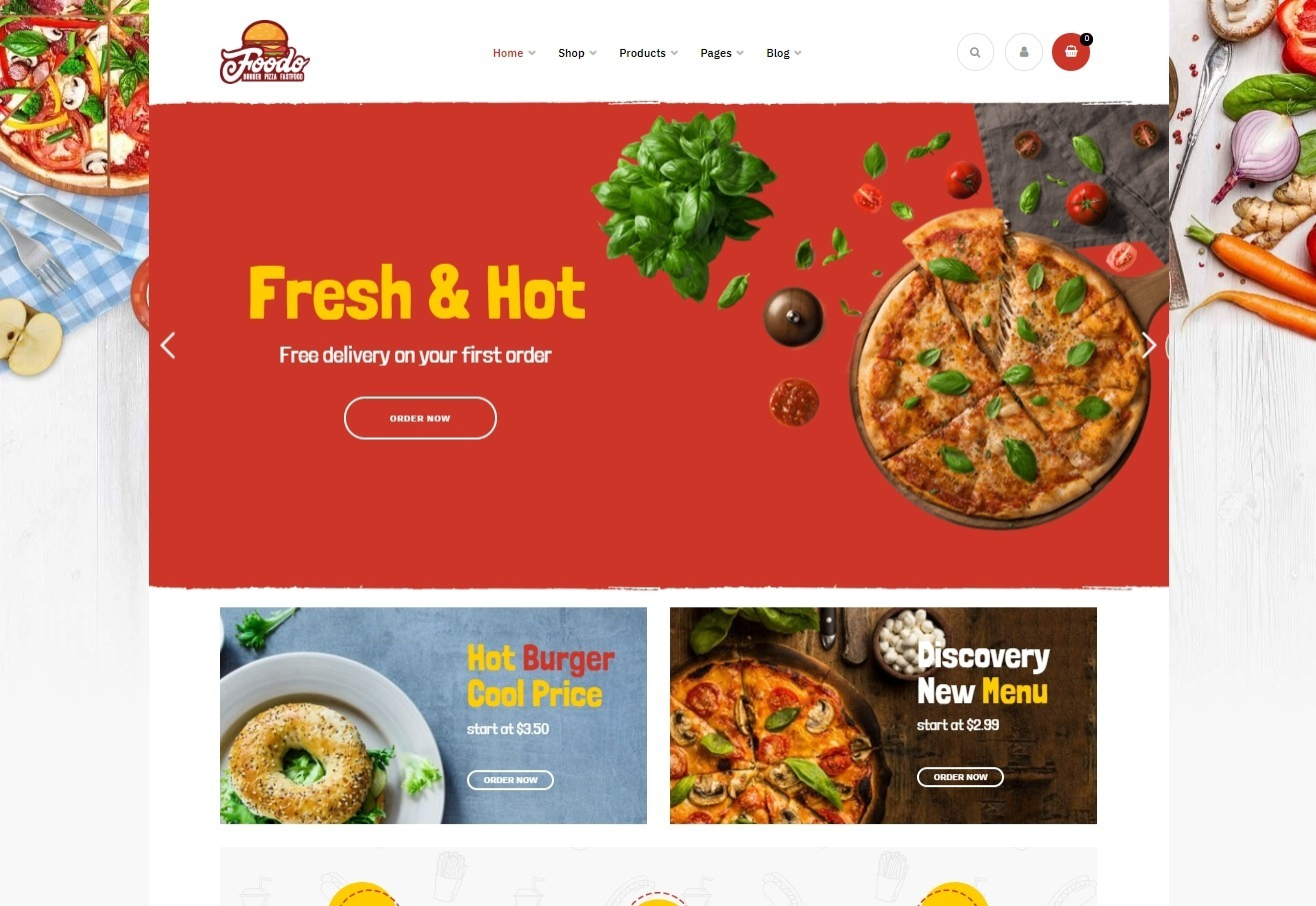 Foodo WordPress Theme for Fast Food Restaurants