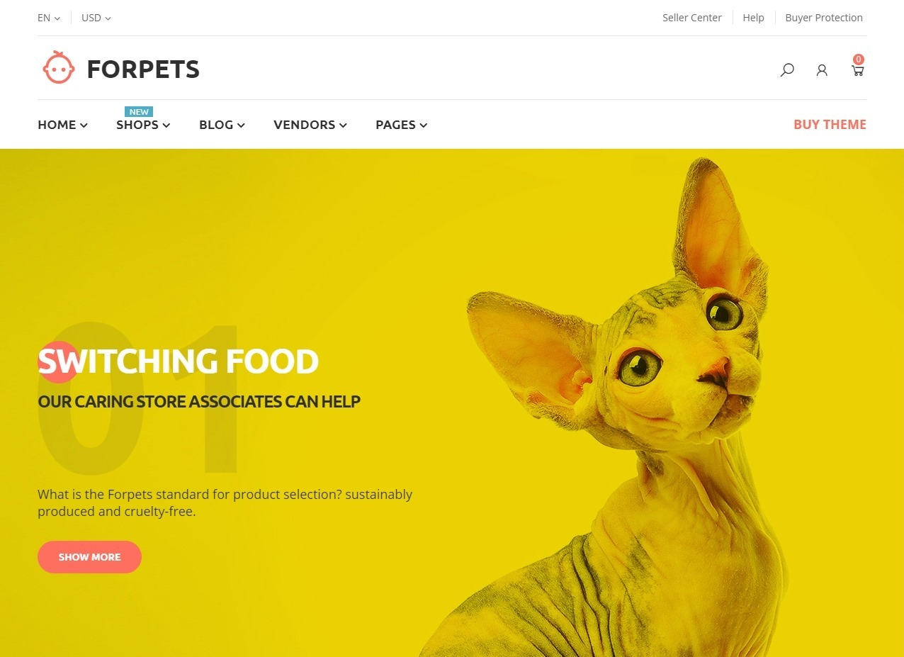ForPets WordPress eCommerce Theme for Pet Stores