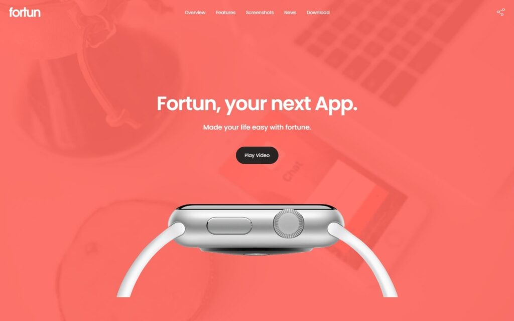 Fortun Application Promo Squeeze Page
