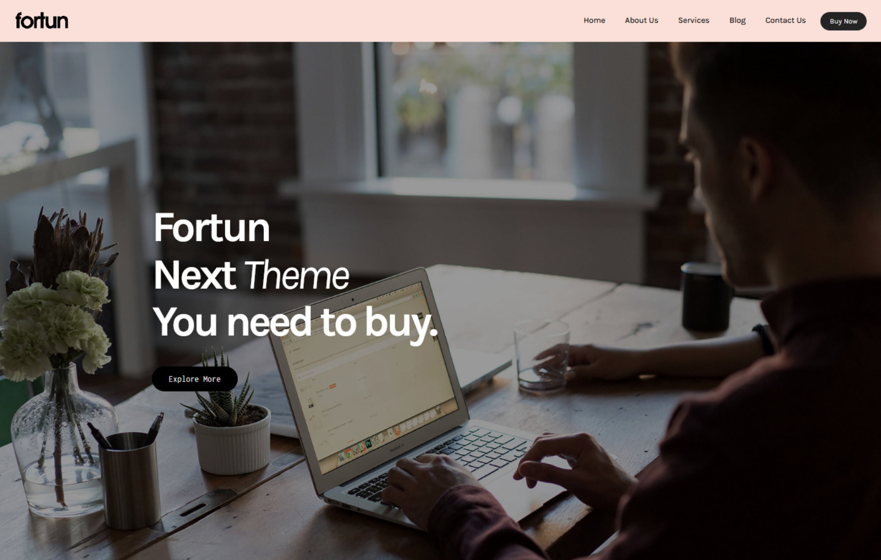 Fortun WordPress One Page Multipurpose Theme