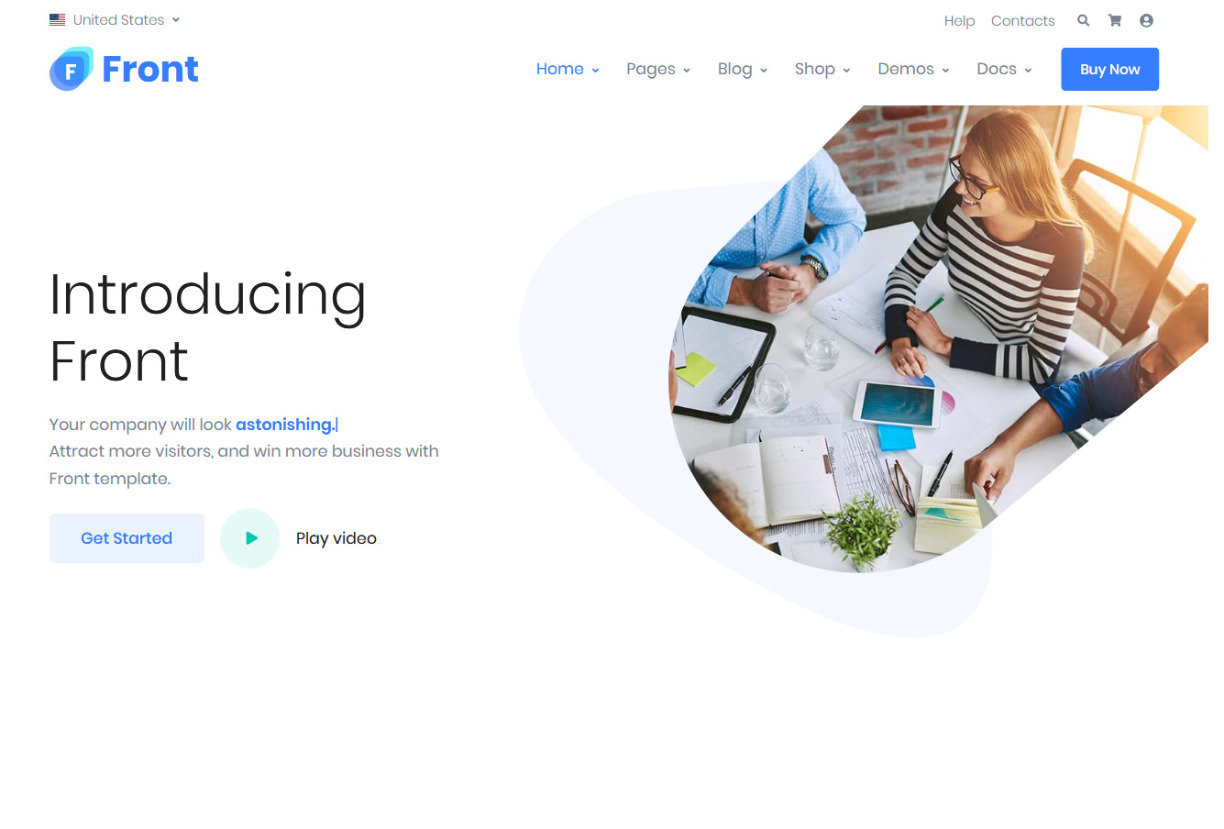 Front WordPress Theme for Business