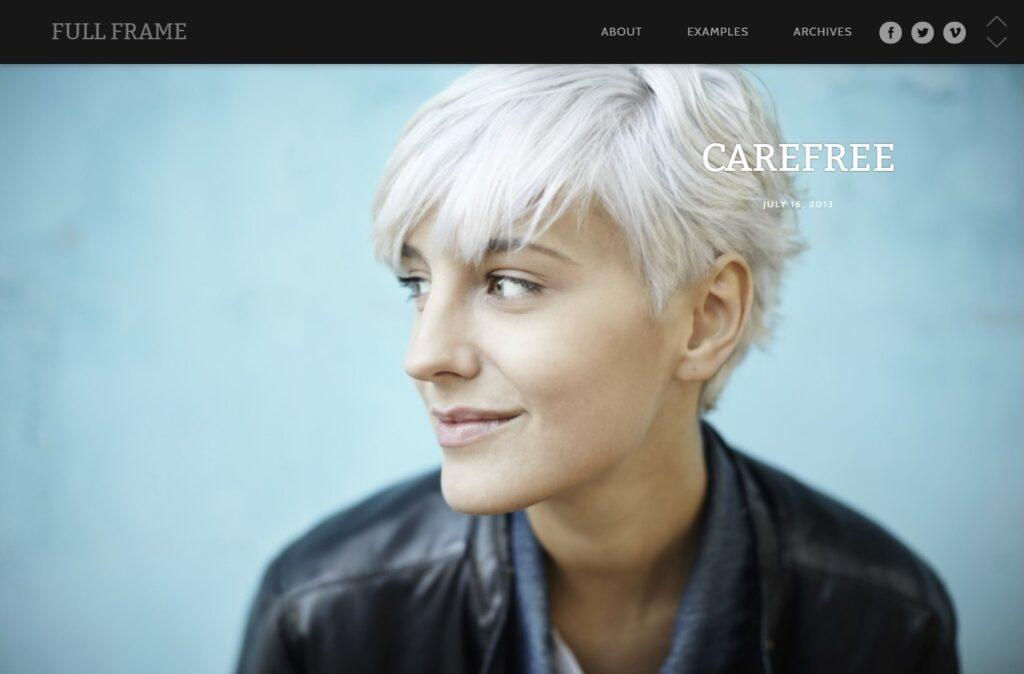 Full Frame Portfolio and Blog with Full Screen Slider