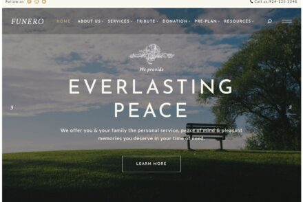 Funero Funeral Agency Theme for WordPress