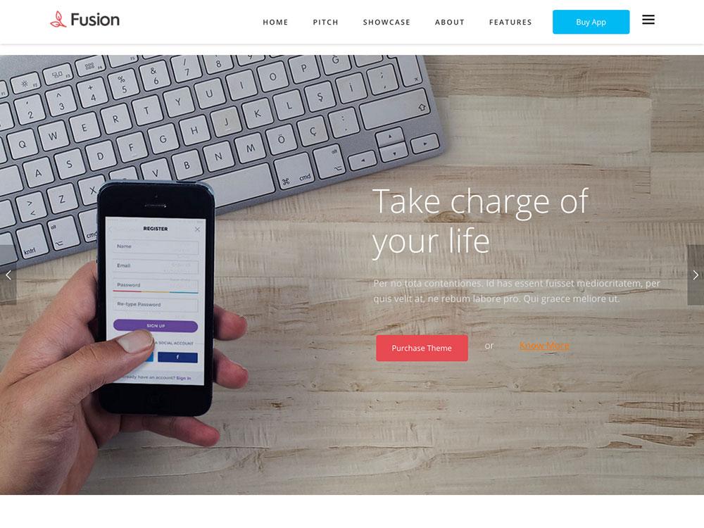 Fusion Application Promotion WP Theme