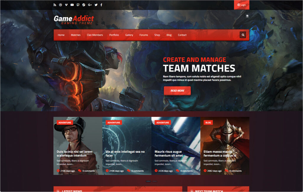 Games Addict Skywarrior Gaming Themes
