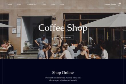 Gaspard WordPress Coffee Shop Themes