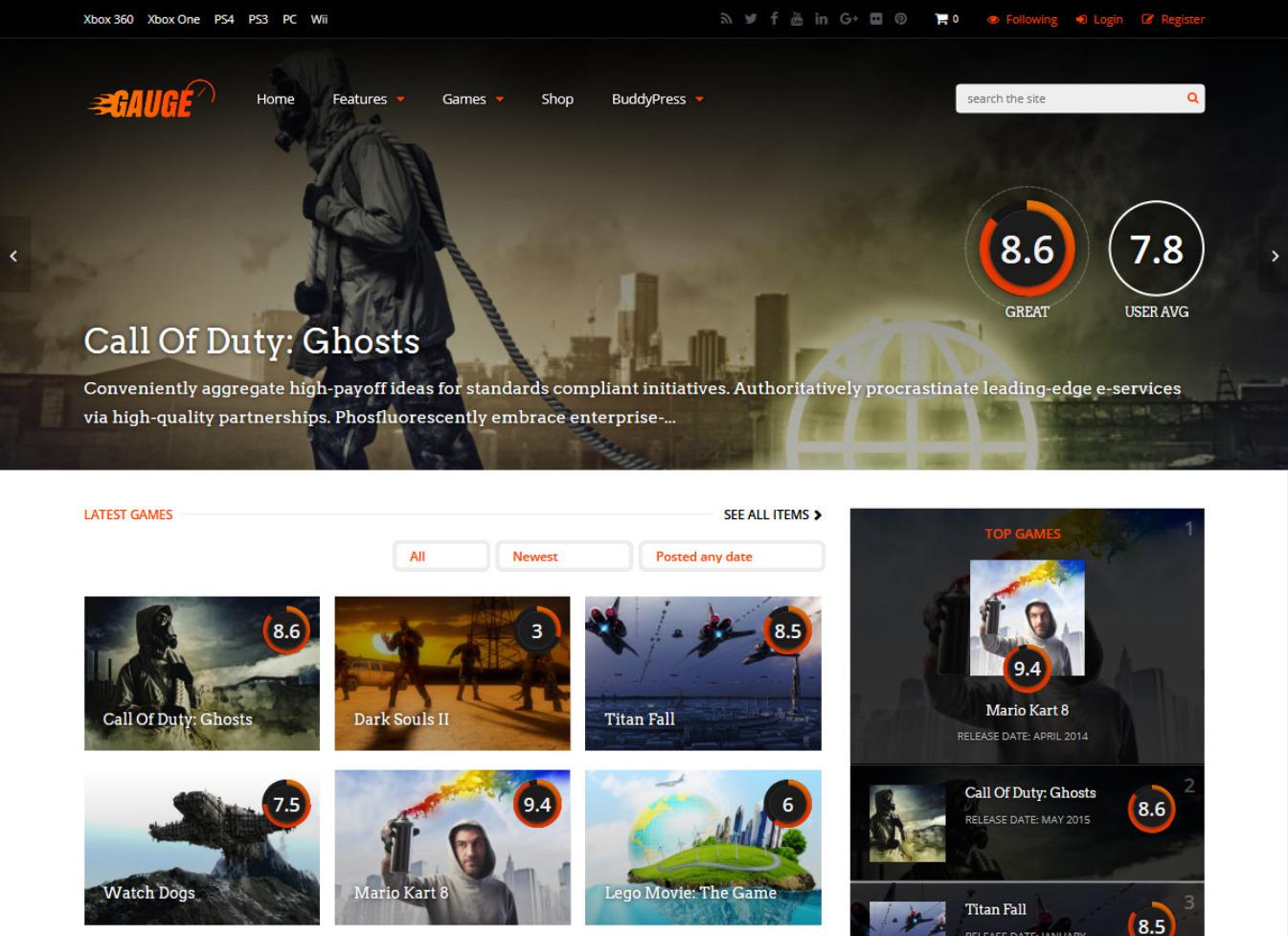Gauge Best Affiliate Marketing WordPress Themes